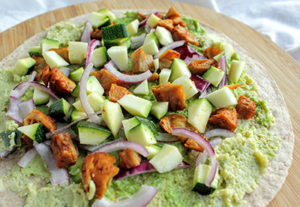Hummus avocado
