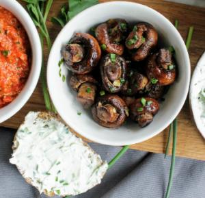 vegan tapenades - zoete champignons