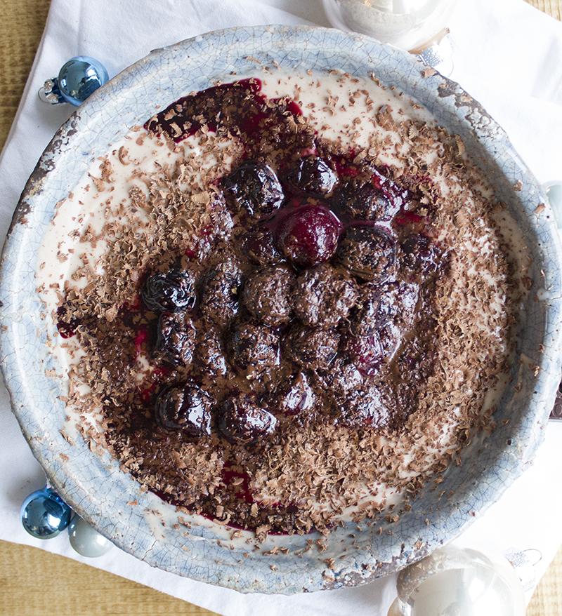 rauwe cacao - choco yoghurt met warme kersen