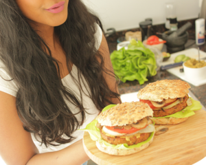 vega(n) hamburgerbroodjes