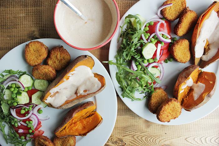 Dagmenu #2 - kipnuggets zoete aardappel