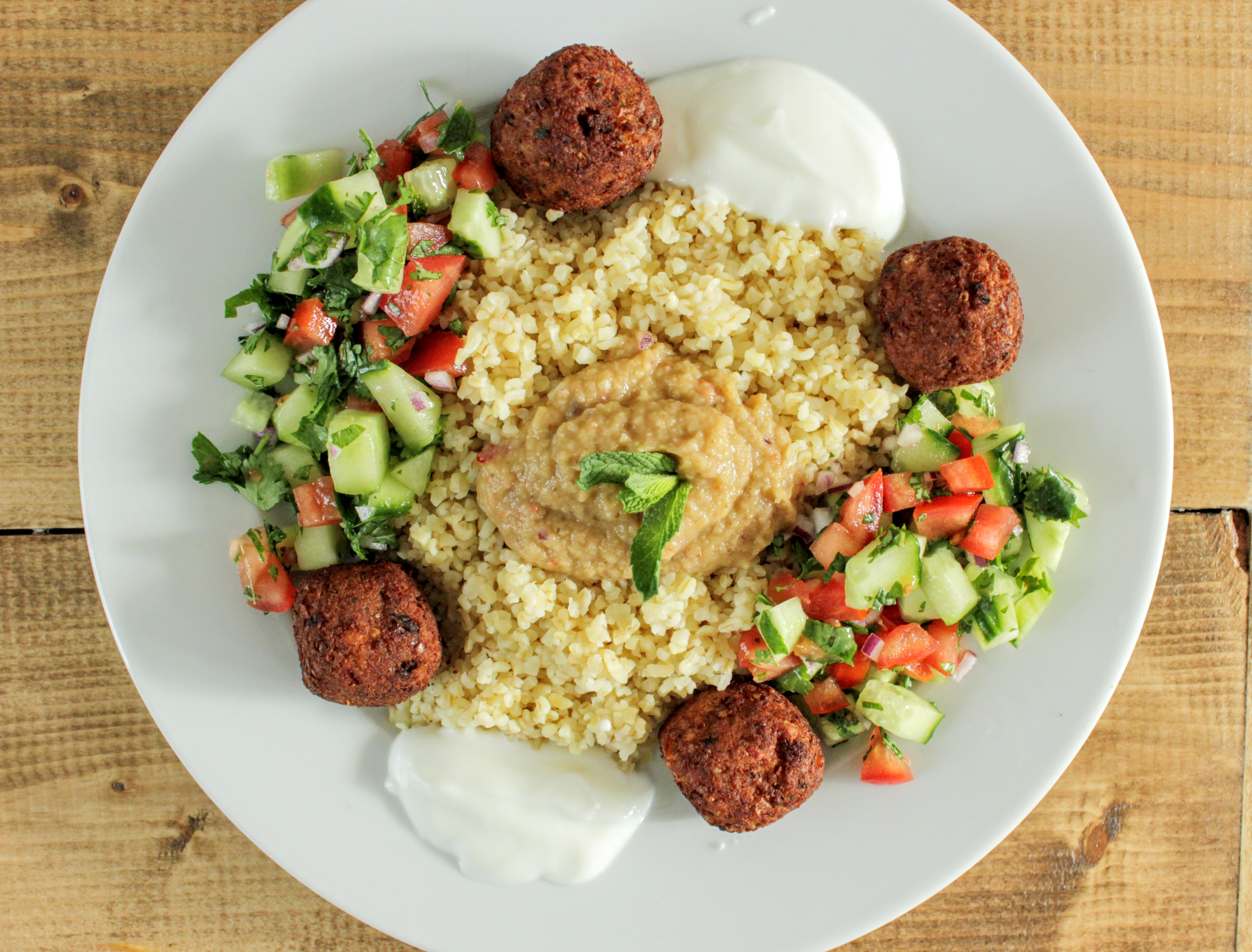 gezond eten - bulgur en falafel
