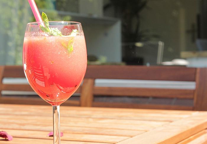Meloensmoothie cocktail