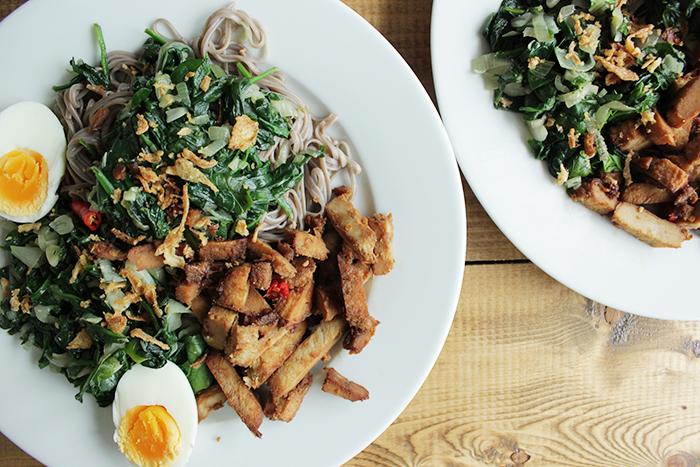 Makkelijke recepten - noedels met spinazie