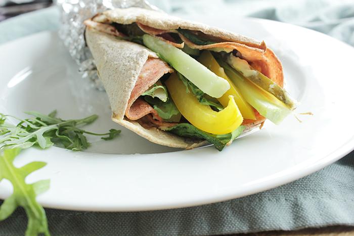 gezond eten - veggie wrap