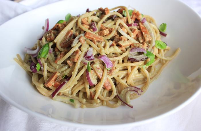 edelgistvlokken - spaghetti carbonara