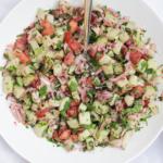 Friszure salade met munt