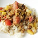 Vegan currygehakt