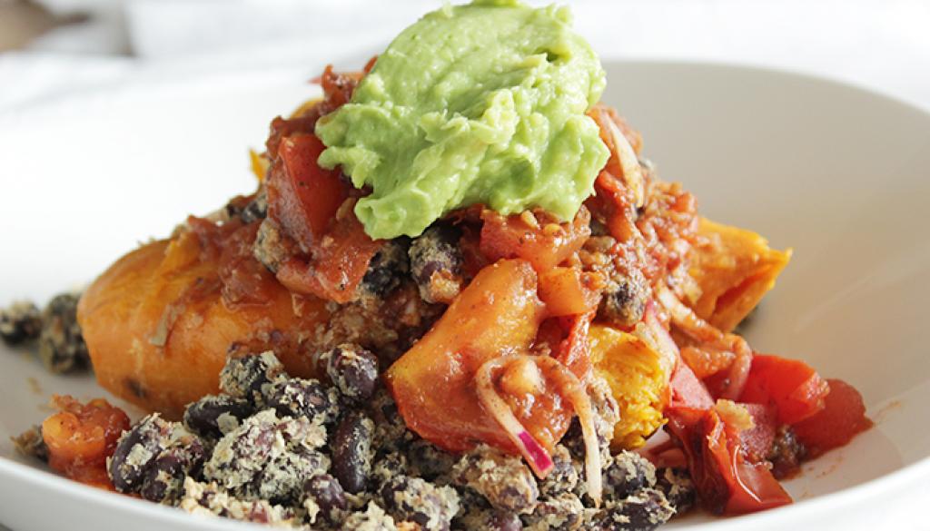 zoete aardappel Mexicaanse twist
