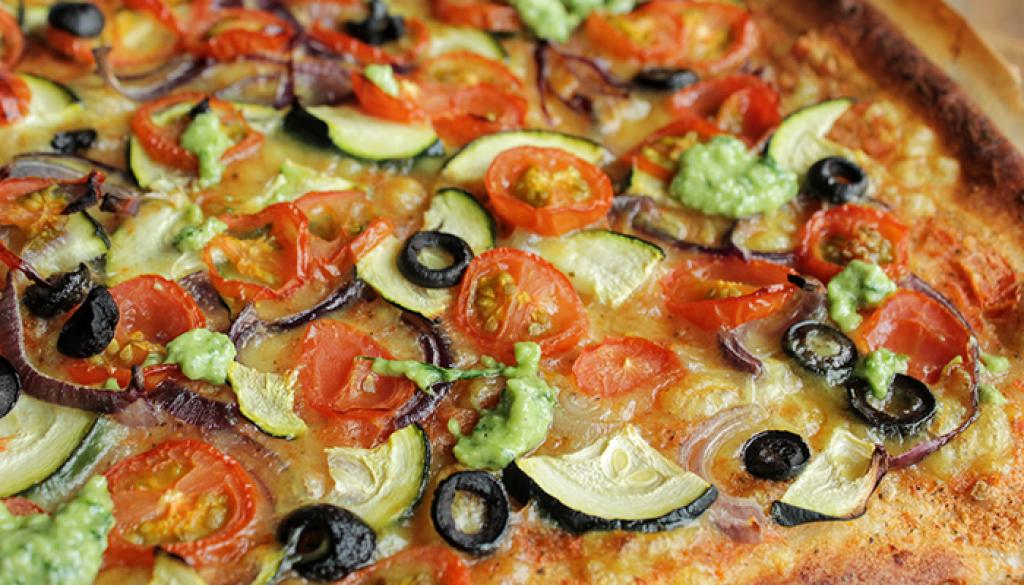 veggie speltpizza