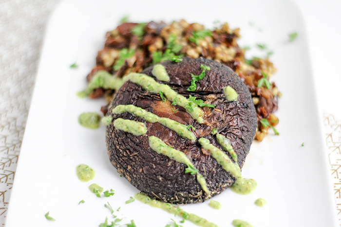 Joyce's Portobello Steak & Boekweit risotto