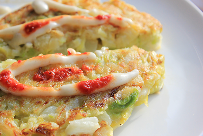 Okonomiyaki – Japanse vegan omelet