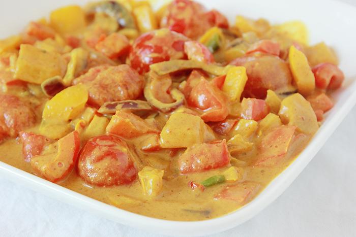 zoete groente curry met paprika