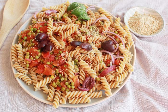 Fusili recept: Greek-Italian fusion