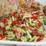 Thaise salade met sesamolie