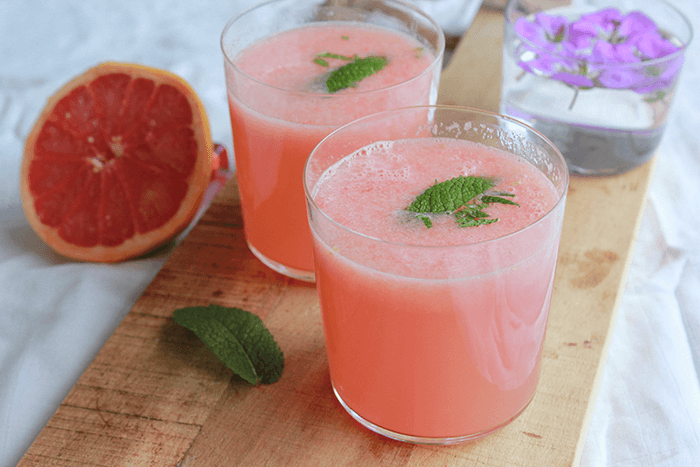 Dorstlesser: grapefruit cocktail met citroen en munt