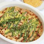 vegan ovenpasta met groene asperges