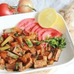 Tofu in perzik-sojasaus