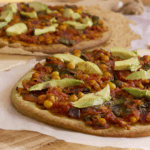 vegan veggiespread pizza