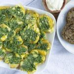 Aardappeltjes uit de oven met spinazie a la crème