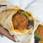 Weekend Food | Falafel-aubergine wrap van Libanees platbrood