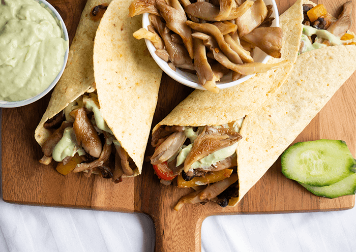 Vegan fajita wraps