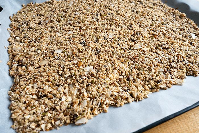 vegan crunchy granola recept