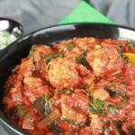 Vegan Köfte met aubergine en spinazie