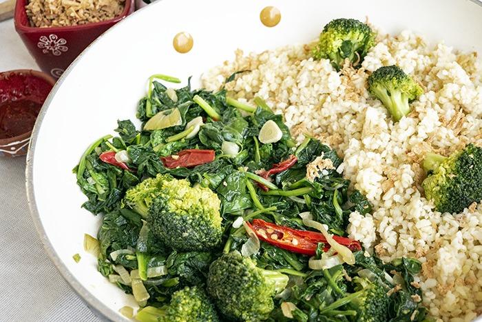 gewokte spinazie met knoflook