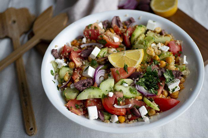 Kikkererwten salade – Griekse stijl