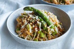 Risotto recept met groene asperges