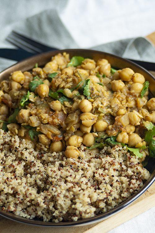 Een heerlijk kikkererwten recept geïnspireerd door de Indiase keuken