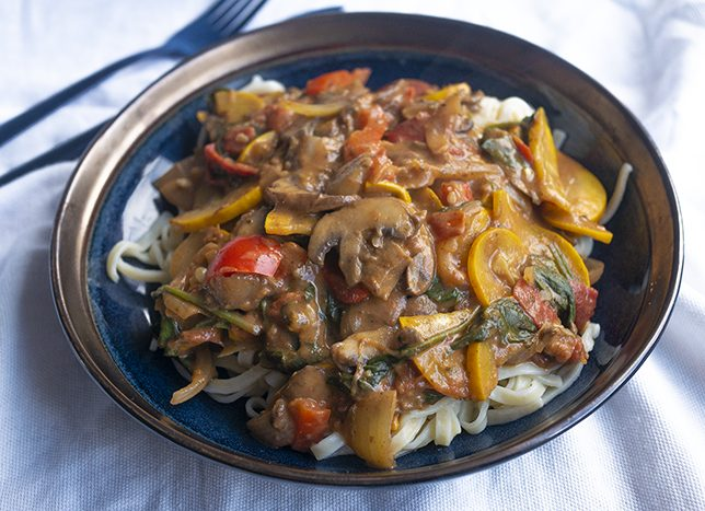 pasta recept met tomaten roomsaus