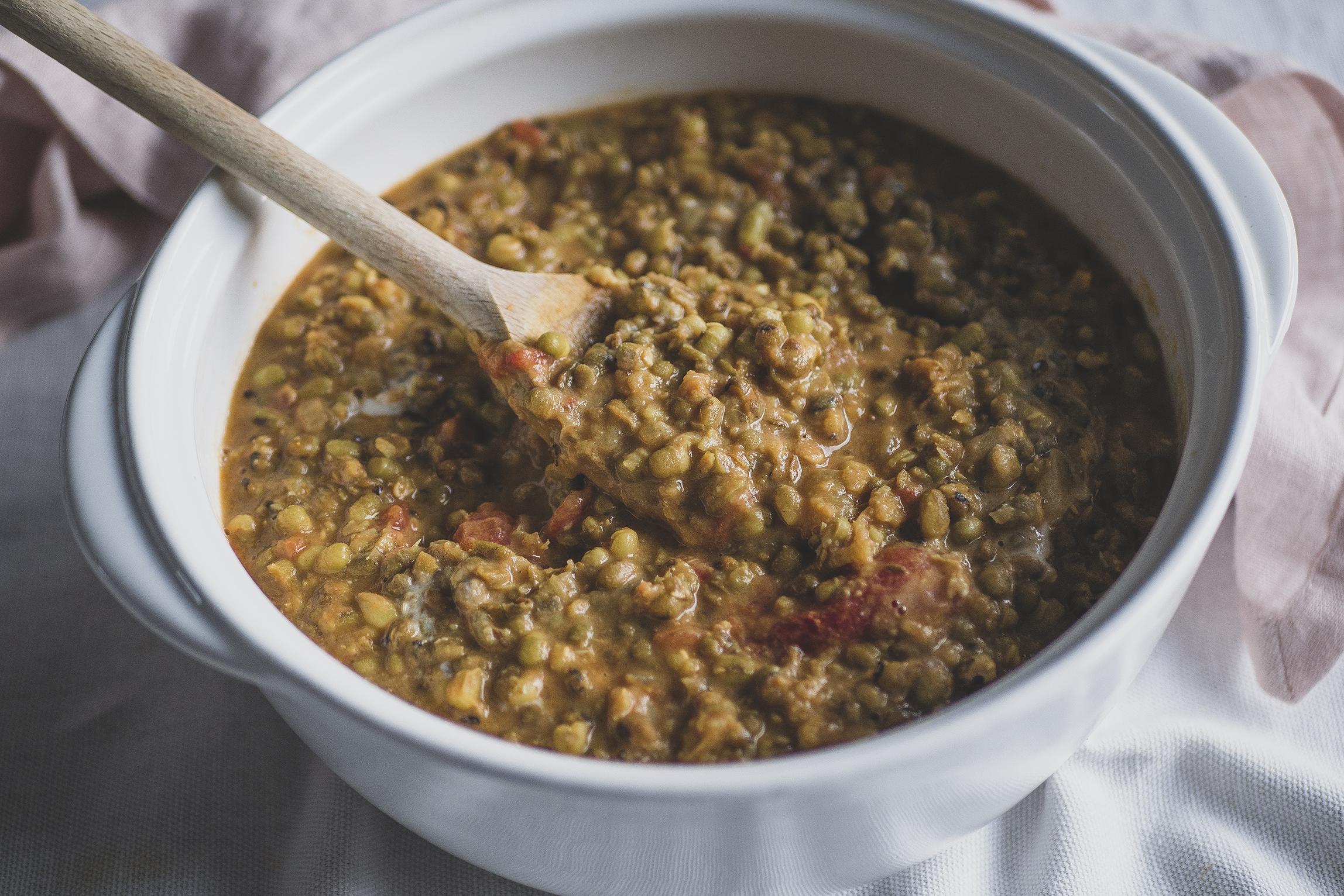 Mungbonen recept Indiase curry