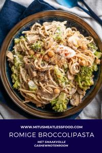 vegan romige pasta met broccoli