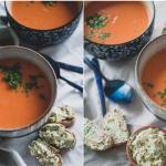 Gezonde vegan tomatensoep zonder bouillonblokjes