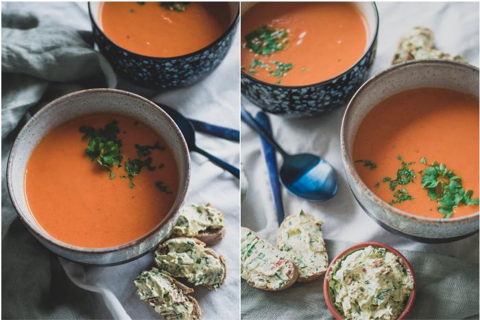 Vegan tomatensoep zonder bouillonblokjes